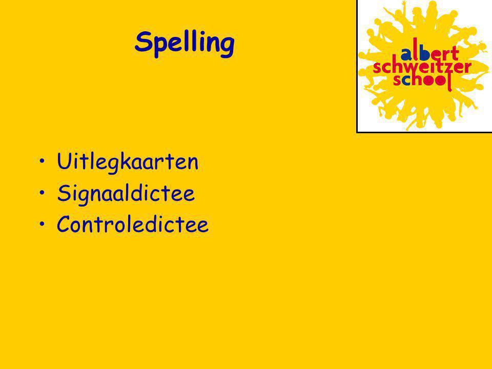 Spelling Uitlegkaarten Signaaldictee Controledictee