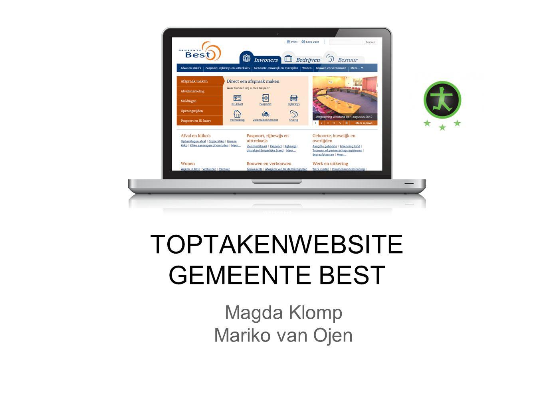 Magda Klomp Mariko van Ojen TOPTAKENWEBSITE GEMEENTE BEST