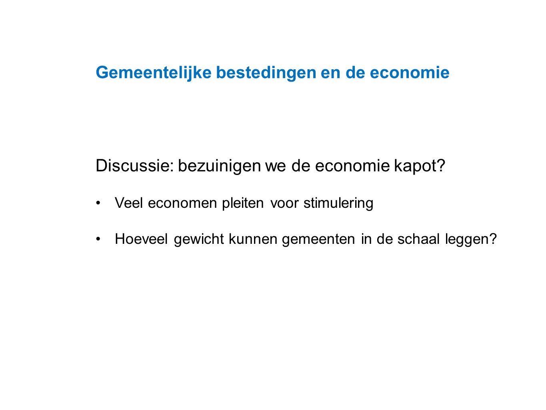 Datum 25.11.2008 Discussie: bezuinigen we de economie kapot.