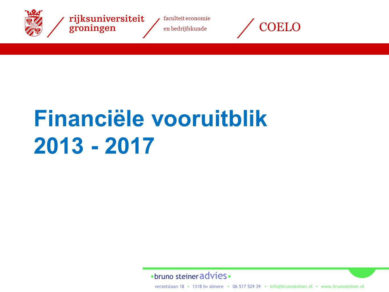 faculteit economie en bedrijfskunde COELO Financiële vooruitblik 2013 - 2017