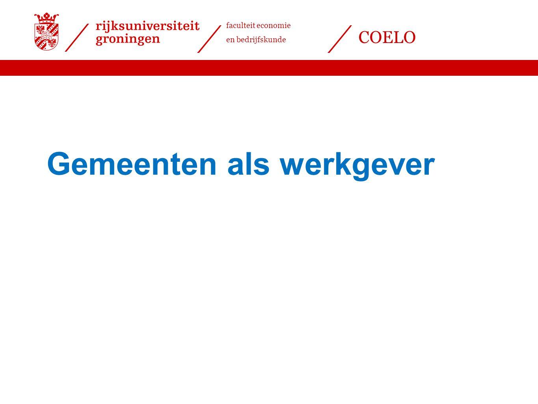 Datum 25.11.2008 Gemeenten als werkgever Werknemers openbaar bestuur Gemeenten: 168.000