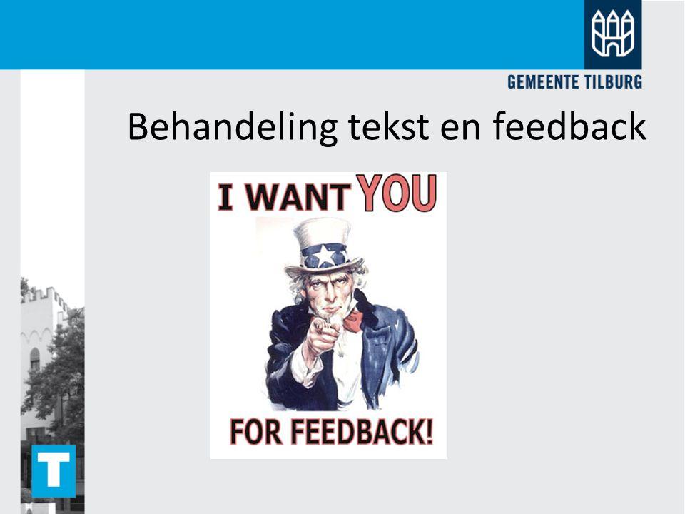 Behandeling tekst en feedback