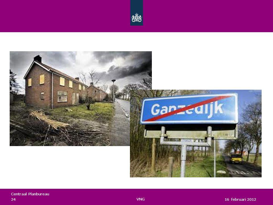 Centraal Planbureau VNG 16 februari 2012 24