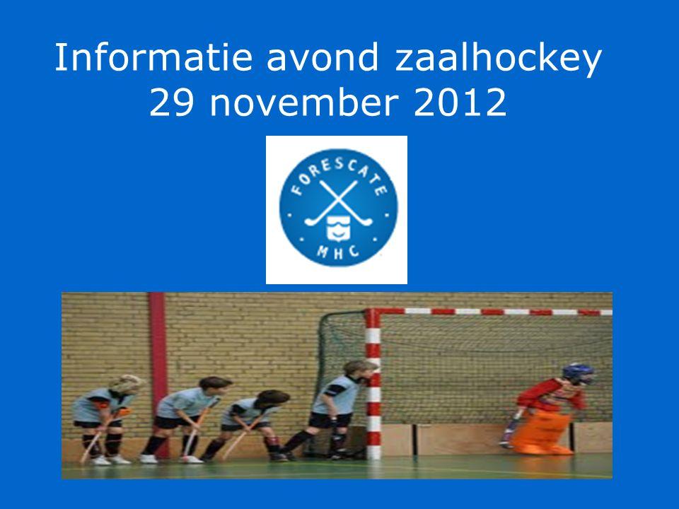 Informatie avond zaalhockey 29 november 2012