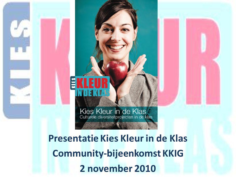 Presentatie Kies Kleur in de Klas Community-bijeenkomst KKIG 2 november 2010