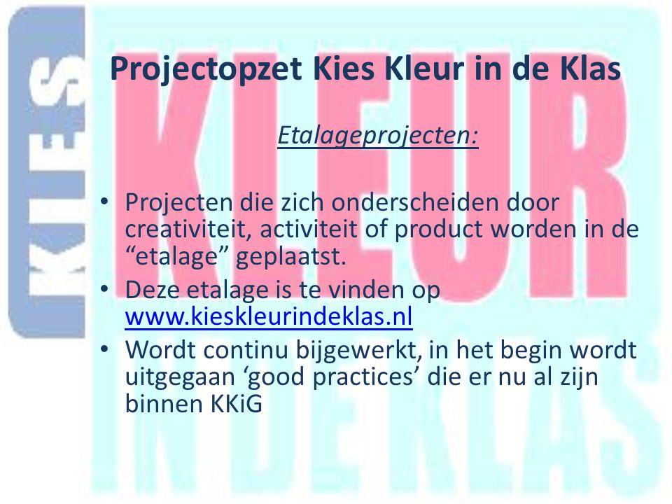 Etalageprojecten: Projecten die zich onderscheiden door creativiteit, activiteit of product worden in de etalage geplaatst.