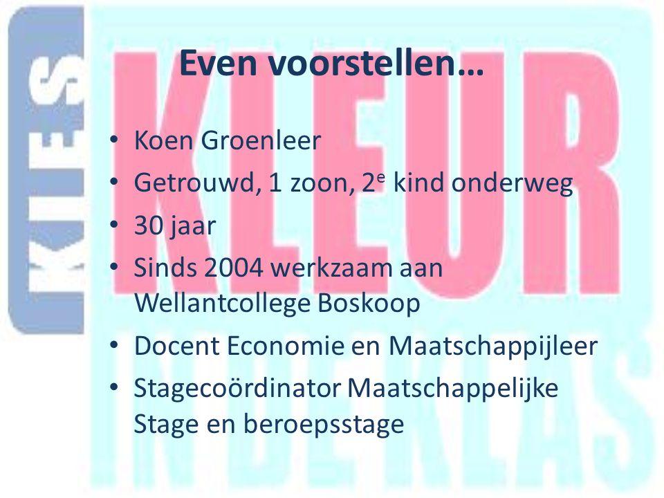 Even voorstellen… In schooljaar 2008-2009 deelname aan RIGO-project Culturele Diversiteit in de Praktijk o.l.v.