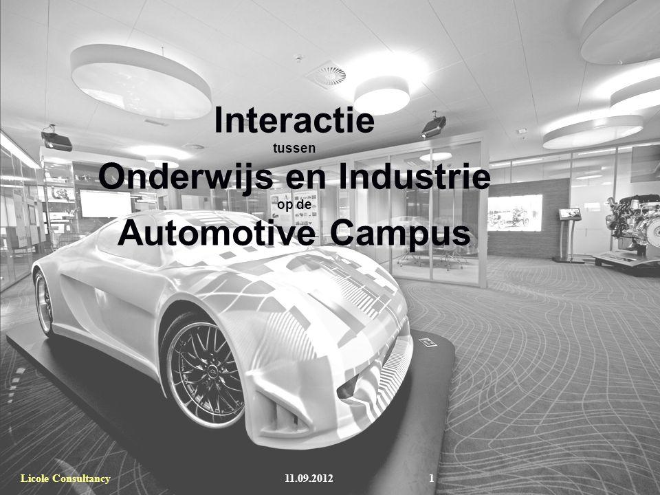 TNO Automotive Interactie tussen Onderwijs en Industrie op de Automotive Campus 11.09.2012Licole Consultancy1