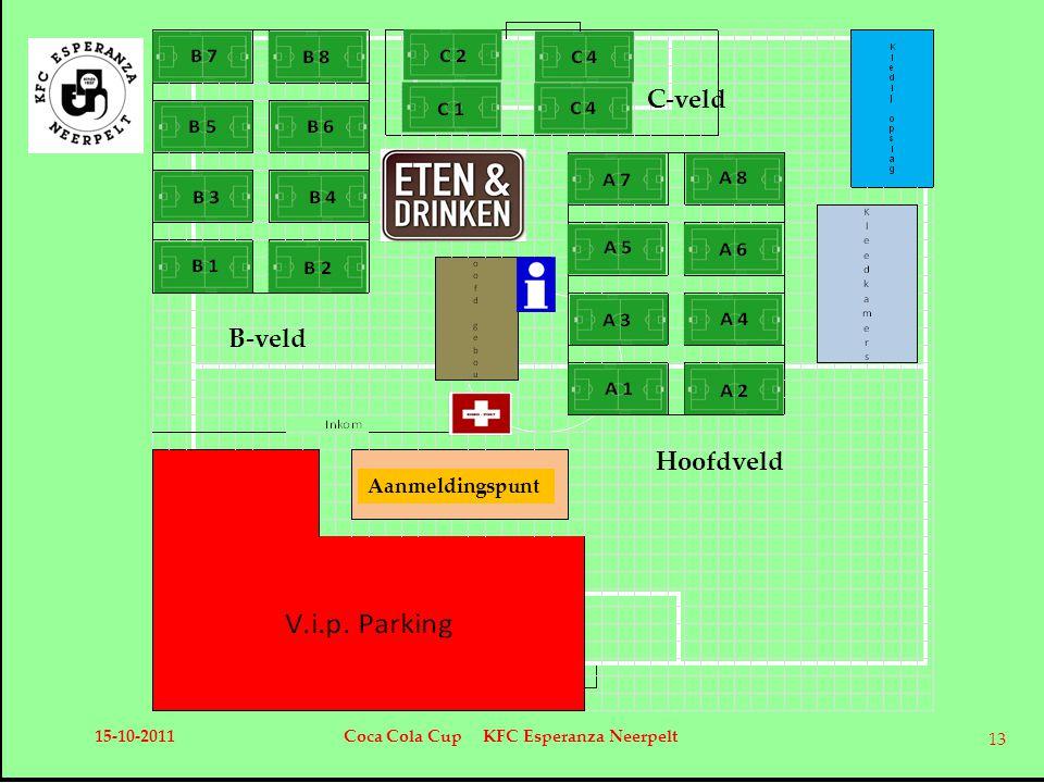 Aanmeldingspunt Hoofdveld B-veld C-veld 15-10-2011Coca Cola Cup KFC Esperanza Neerpelt 13