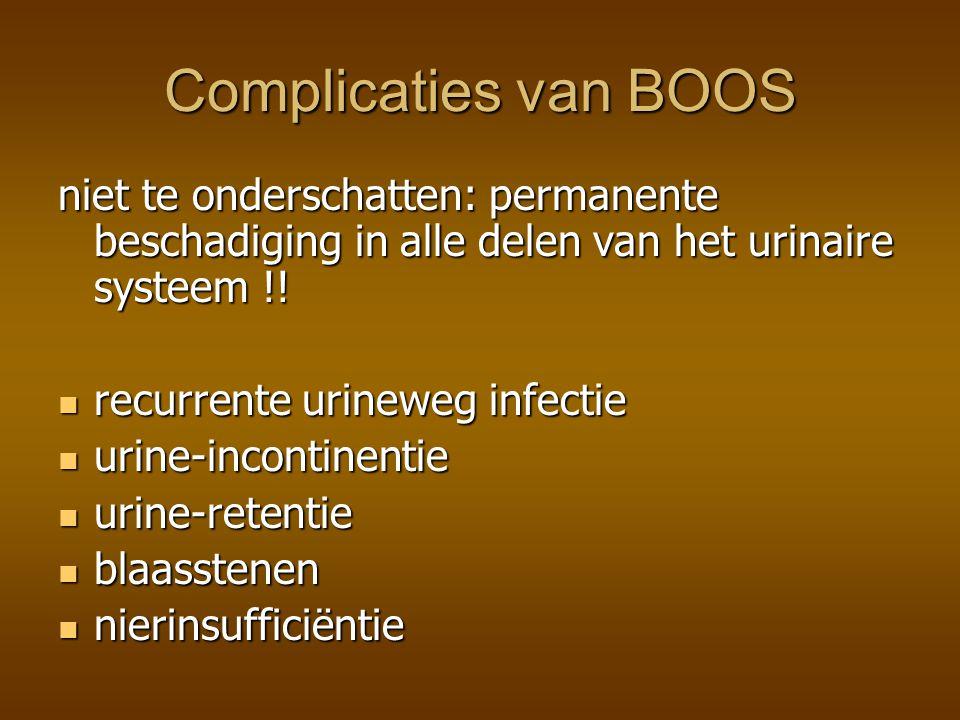 Tijdens urodynamisch onderzoek bij vrouwen met inspannings-urineverlies vond met B.O.O.S.