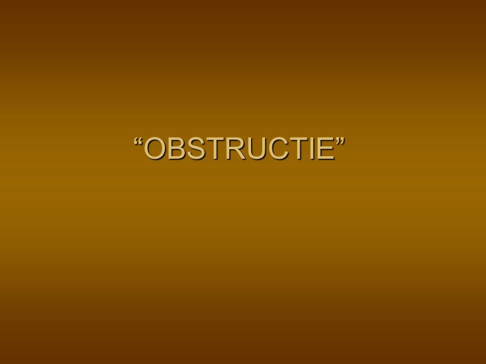 OBSTRUCTIE