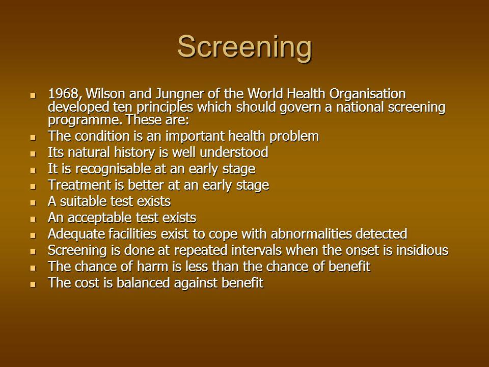 PCA Screening Screening Therapie-mogelijkheden Therapie-mogelijkheden