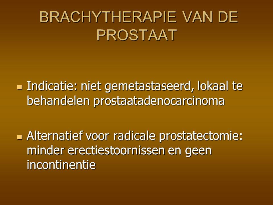Prostaatkanker: Nieuwe R/ brachytherapie brachytherapie