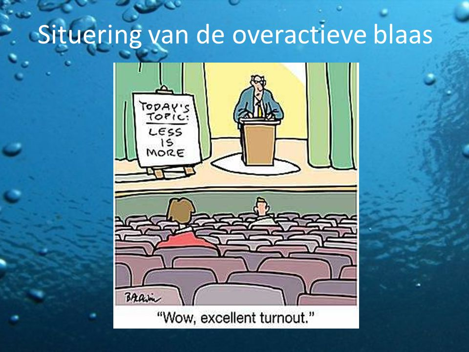 Situering van de overactieve blaas