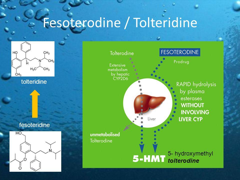 Fesoterodine / Tolteridine tolteridine fesoteridine 5- hydroxymethyl tolterodine