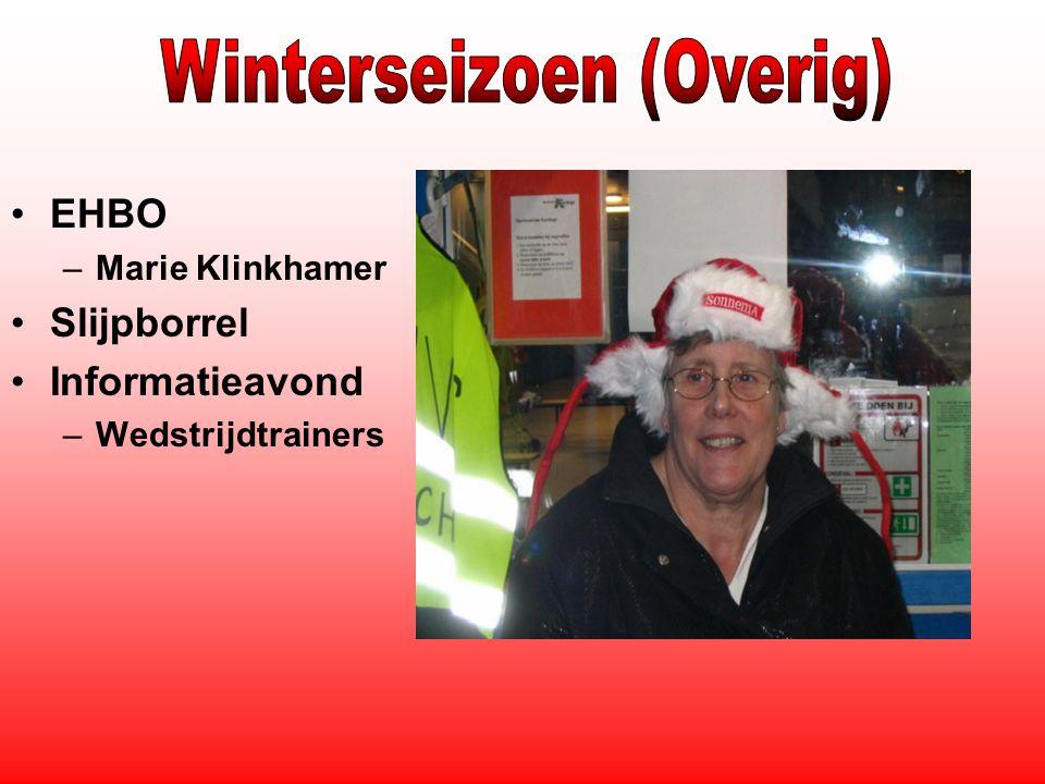 EHBO –Marie Klinkhamer Slijpborrel Informatieavond –Wedstrijdtrainers