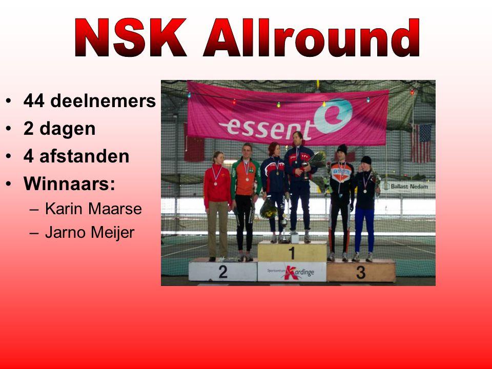 44 deelnemers 2 dagen 4 afstanden Winnaars: –Karin Maarse –Jarno Meijer