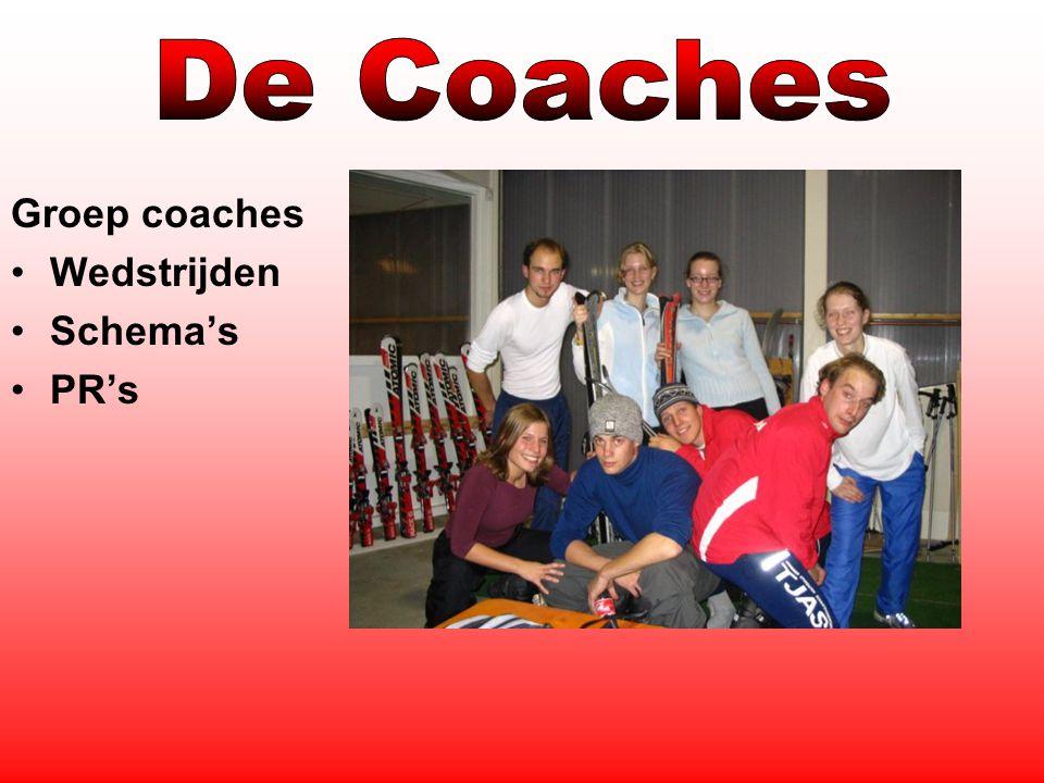 Groep coaches Wedstrijden Schema's PR's