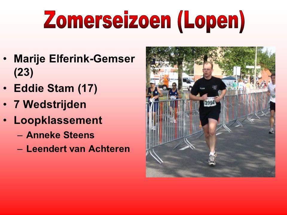 Marije Elferink-Gemser (23) Eddie Stam (17) 7 Wedstrijden Loopklassement –Anneke Steens –Leendert van Achteren