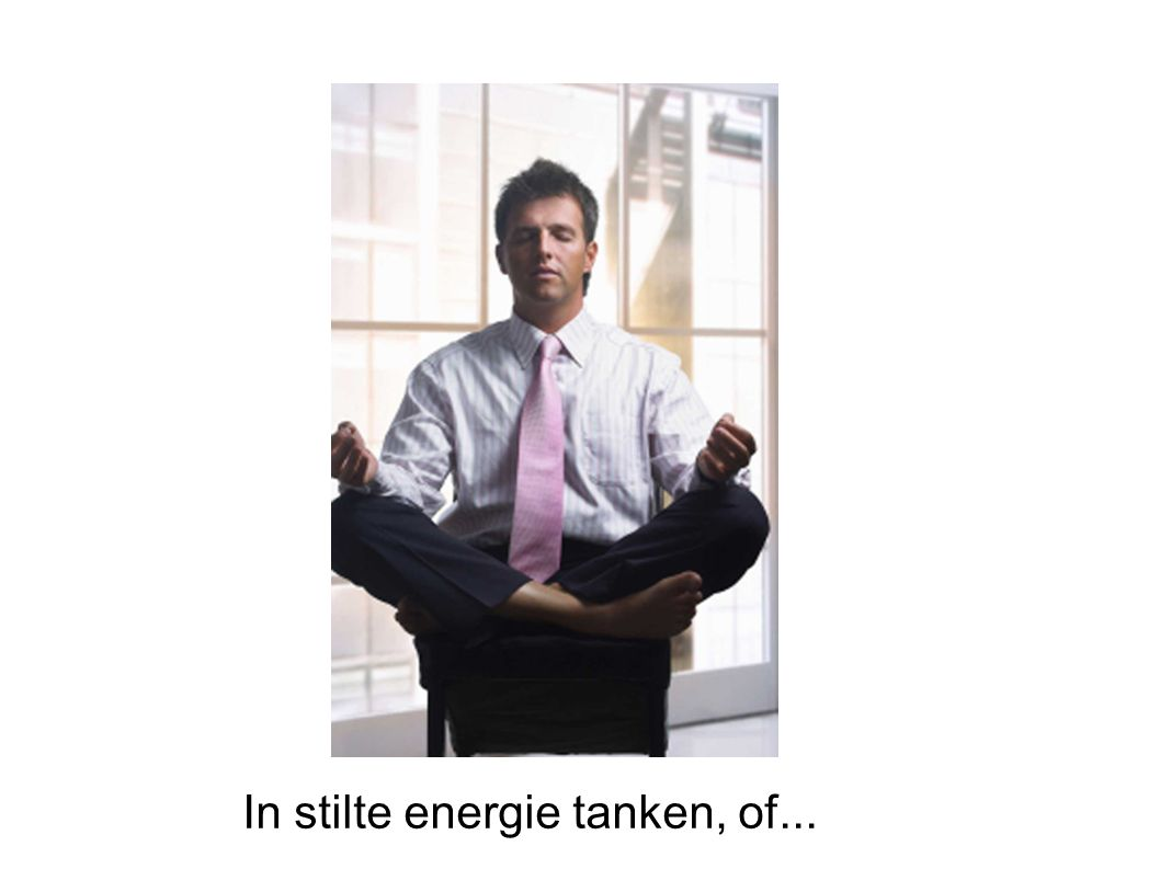 In stilte energie tanken, of...