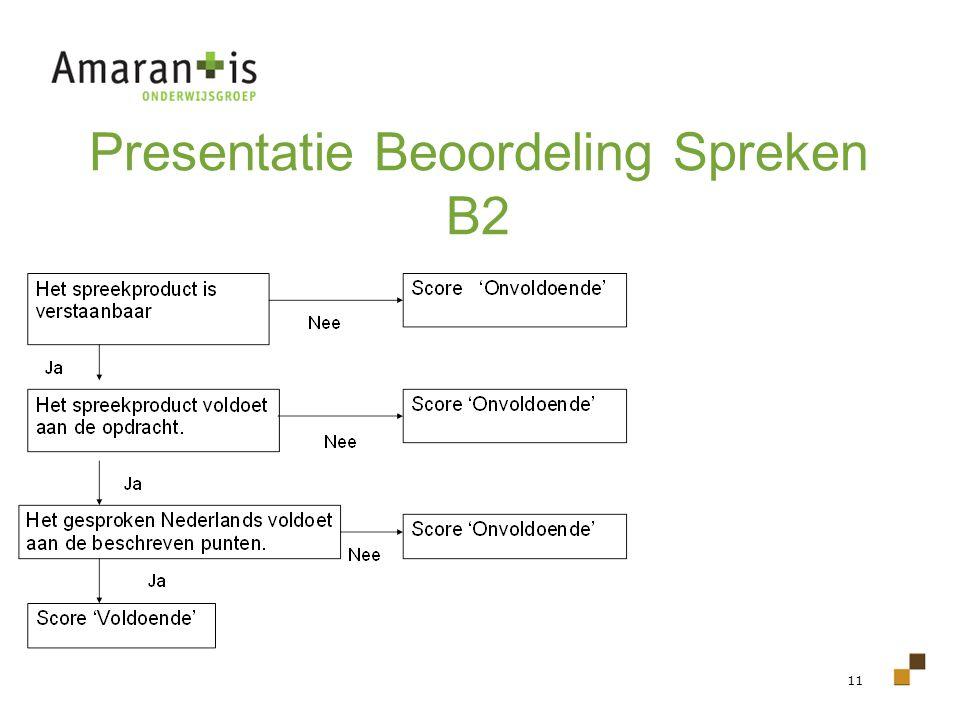 11 Presentatie Beoordeling Spreken B2