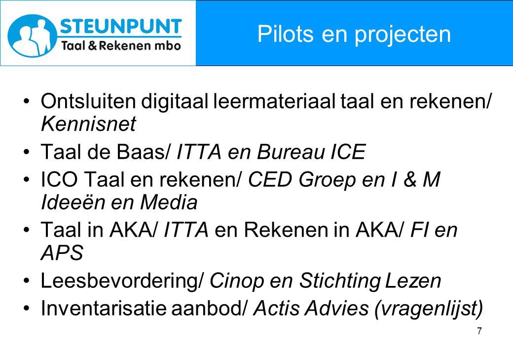 8 Steunpunt Taal en Rekenen mbo: Steun in de rug.
