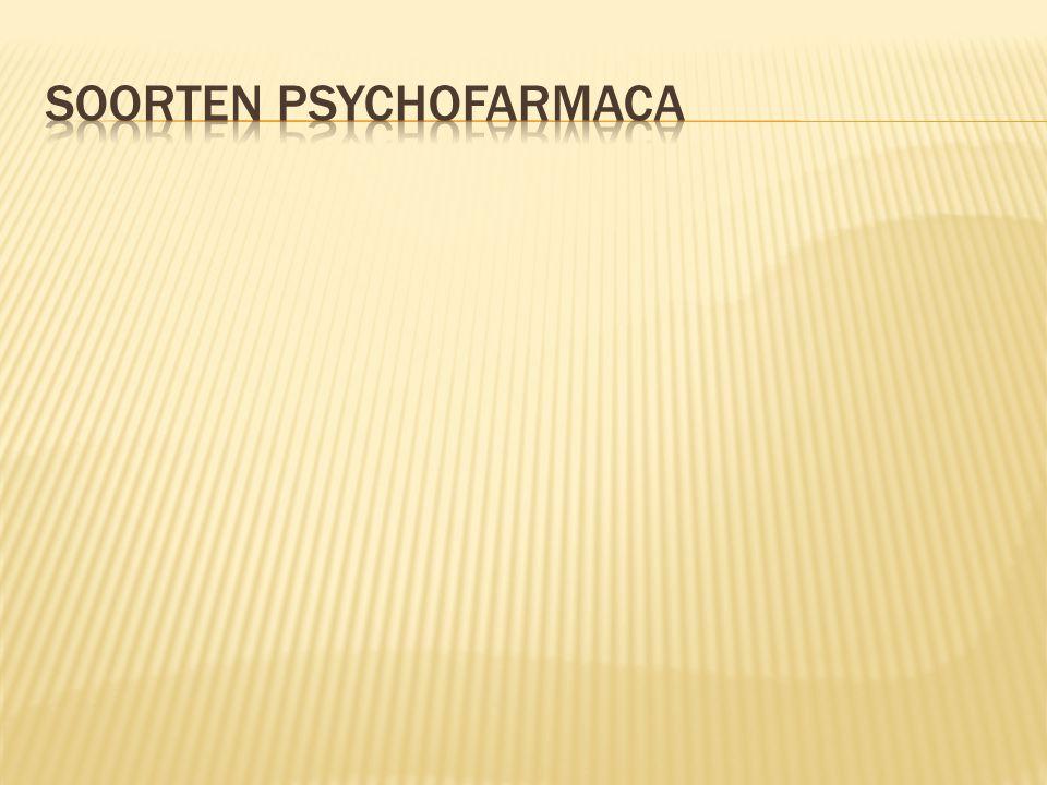  Bij: - Psychotische verschijnselen - Verwardheid - Opwinding Er zijn verschillende antypsychotica, maar werking is het zelfde Wel verschilt de uitwerking