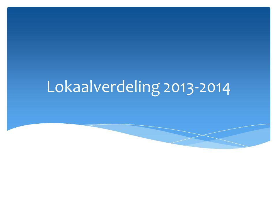 Lokaalverdeling 2013-2014