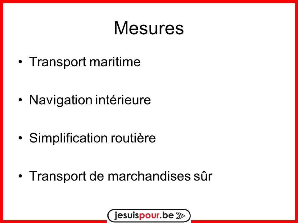 Mesures Transport maritime Navigation intérieure Simplification routière Transport de marchandises sûr