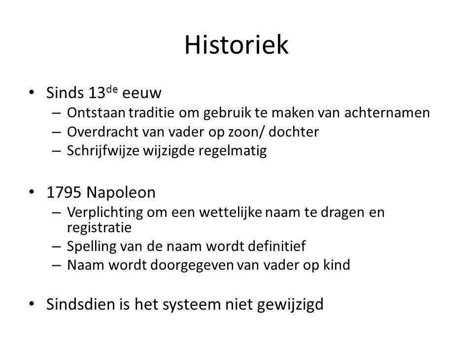 Problématique Tradition vieille de plusieurs siècles qui peut poser problème lorsqu'un des parents n'a pas la nationalité belge.