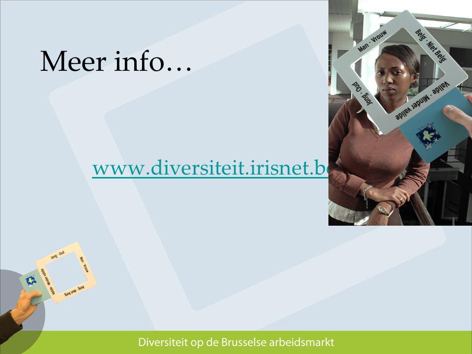 Meer info… www.diversiteit.irisnet.be