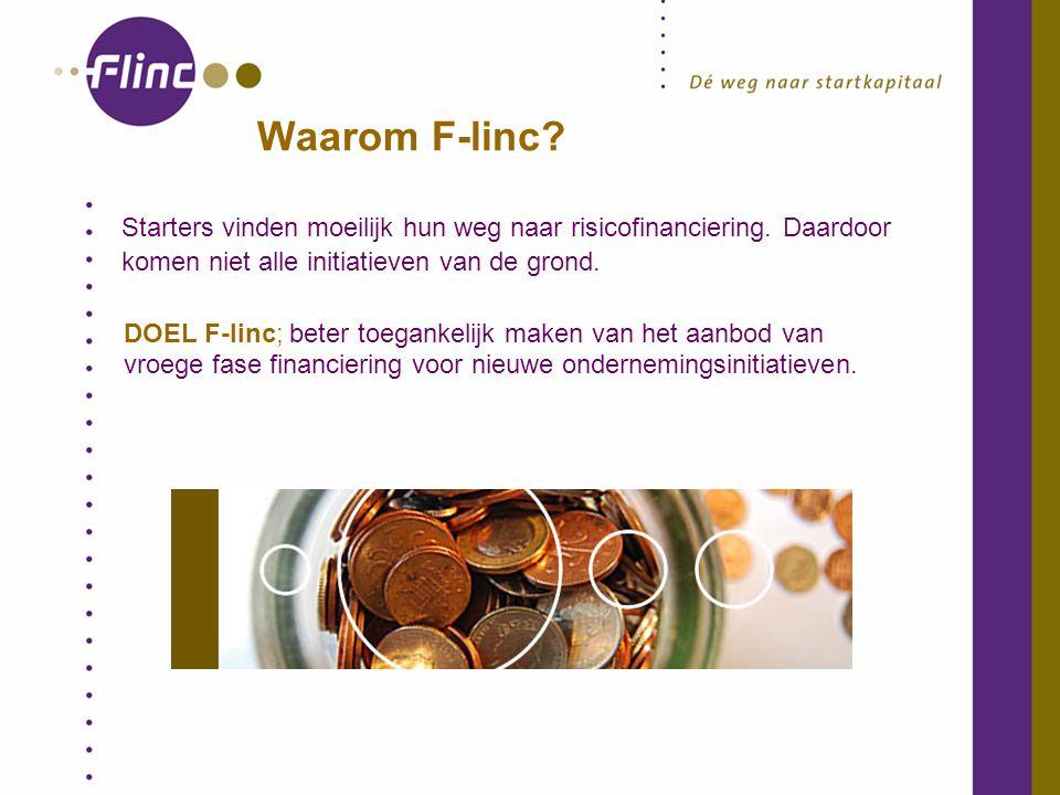 Waarom F-linc. Starters vinden moeilijk hun weg naar risicofinanciering.