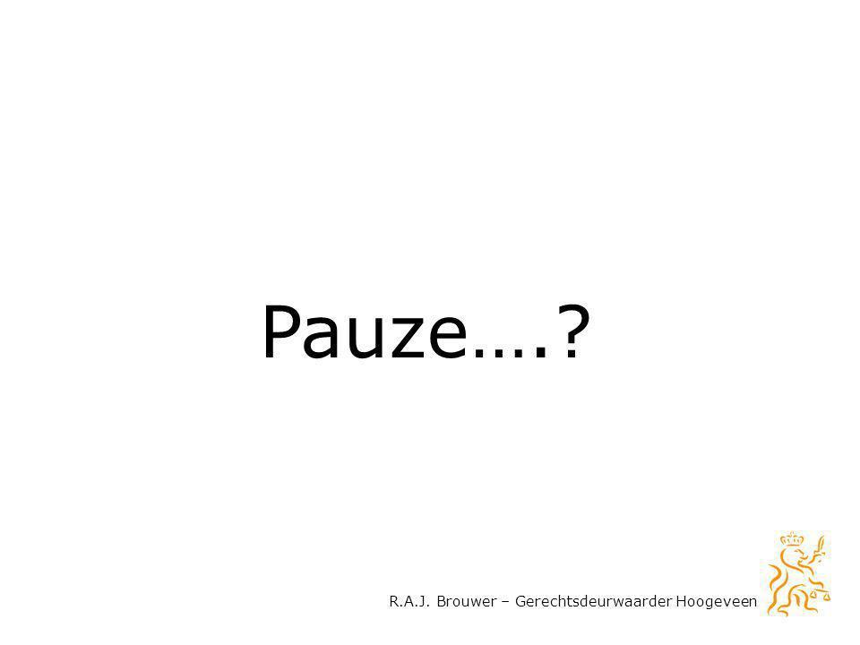 R.A.J. Brouwer – Gerechtsdeurwaarder Hoogeveen Pauze….?