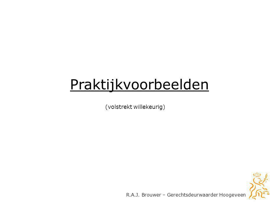 R.A.J. Brouwer – Gerechtsdeurwaarder Hoogeveen Praktijkvoorbeelden (volstrekt willekeurig)