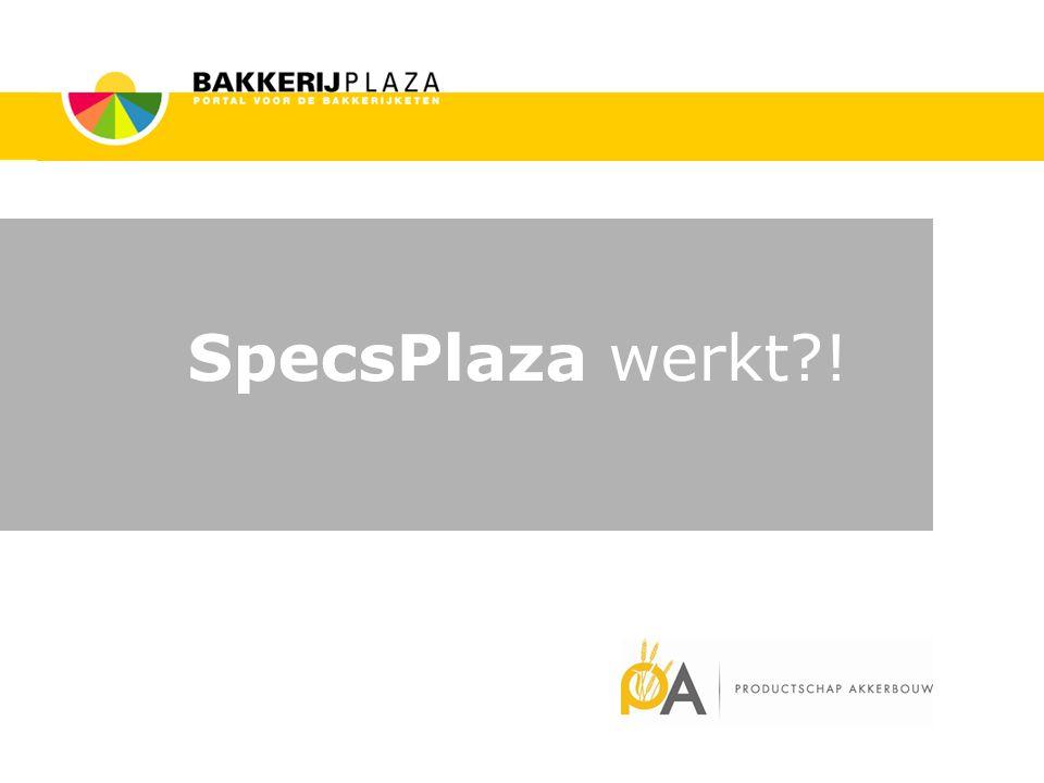SpecsPlaza werkt !
