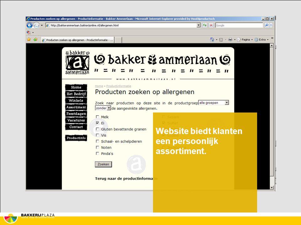 Website biedt klanten een persoonlijk assortiment.