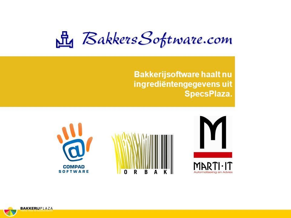 Bakkerijsoftware haalt nu ingrediëntengegevens uit SpecsPlaza.