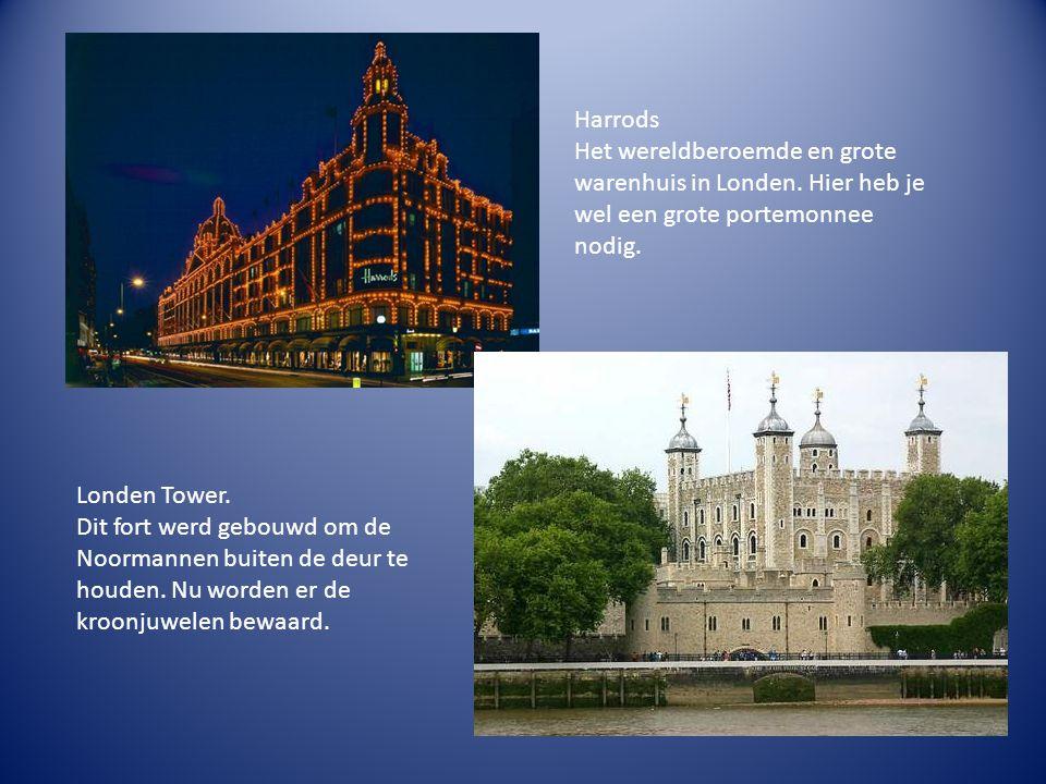 Harrods Het wereldberoemde en grote warenhuis in Londen.