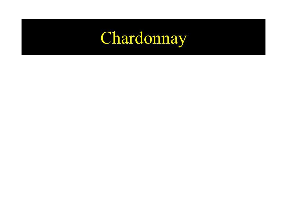 USA: - Chardonnay is de top druif - groot verschil tussen warme en koude gebieden - zeer veel gebruik van hout Chili: - verschil dag en nacht temperatuur zeer groot  zuren - mango, passievrucht, ananas, … - dikwijls op hout gelagerd Australië: - rijk, exotisch, oaky - diepgeel, ananas, … - na 2 jaar reeds oud (plantaardig, gerijpte smaken, vlak, …)