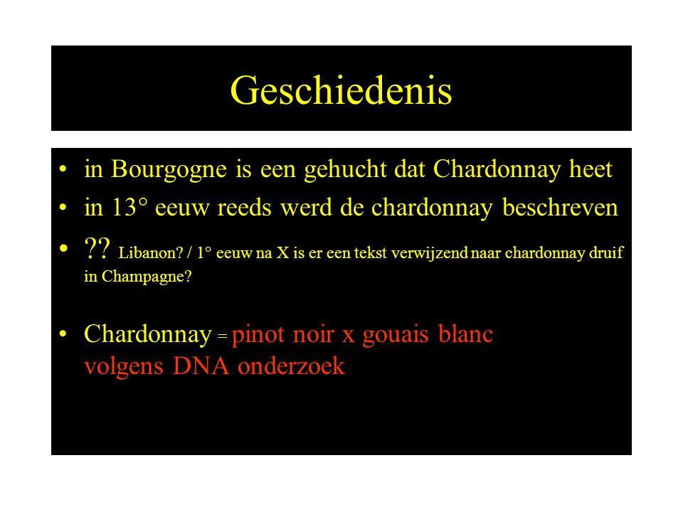 Andere namen Morillon ------------- Feinburgunder --------- Gelber Weissburgunder – Pinot Chardonnay ----- Beaunois --------------- Steiermark (AU) Wenen, Burgenland Alto Adige (I) Champagne Chablis