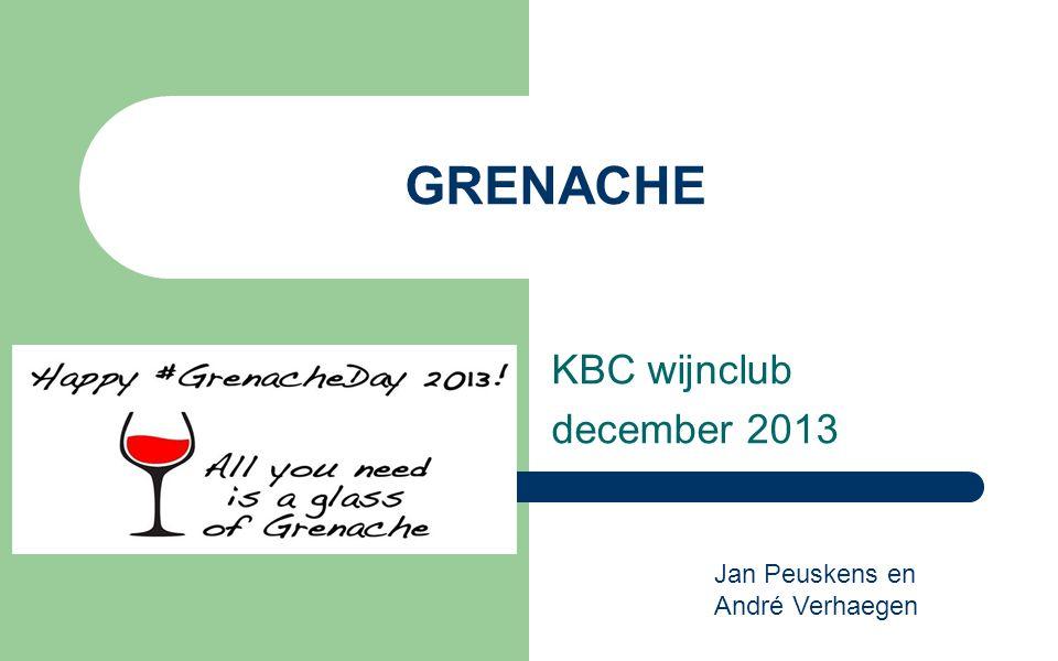 KBC wijnclub december 2013 GRENACHE Jan Peuskens en André Verhaegen