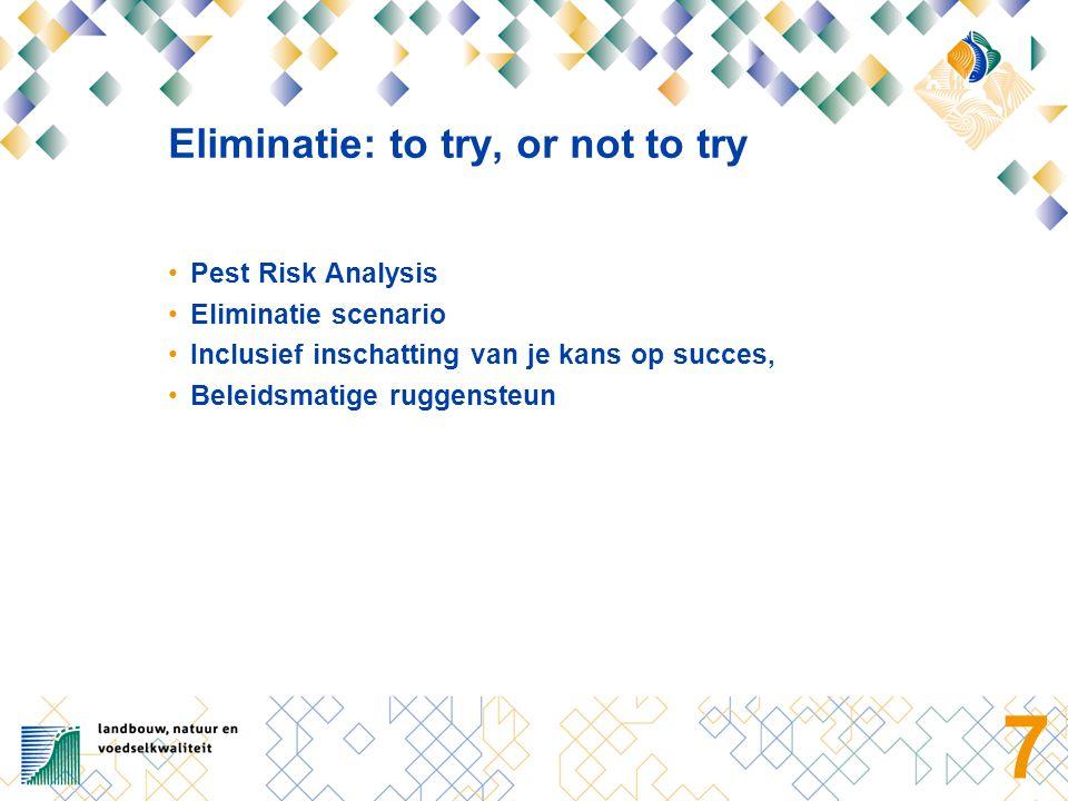 8 Pest Risk Analysis Taxonomische status Verspreiding Biologie Pathways: verspreiding Schade/effecten Economische, sociale en volksgezondheidseffecten Beheer en bestrijding Conclusie: Q-waardig of niet