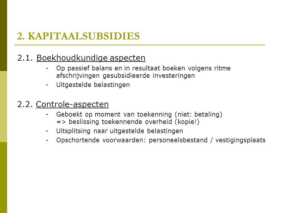 2.KAPITAALSUBSIDIES 2.1.
