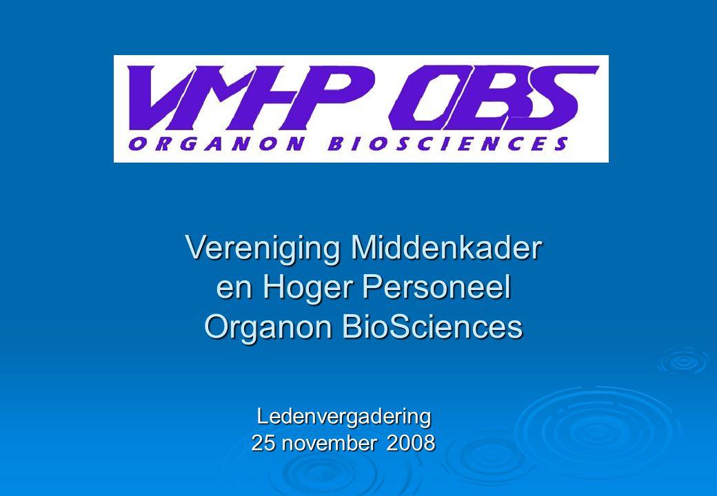 Vereniging Middenkader en Hoger Personeel Organon BioSciences Ledenvergadering 25 november 2008