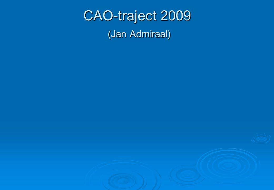 CAO-traject 2009 (Jan Admiraal)