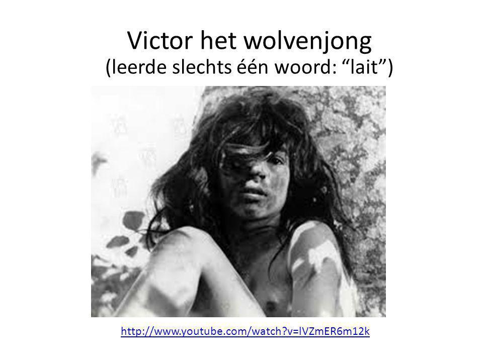 "http://www.youtube.com/watch?v=lVZmER6m12k Victor het wolvenjong (leerde slechts één woord: ""lait"")"