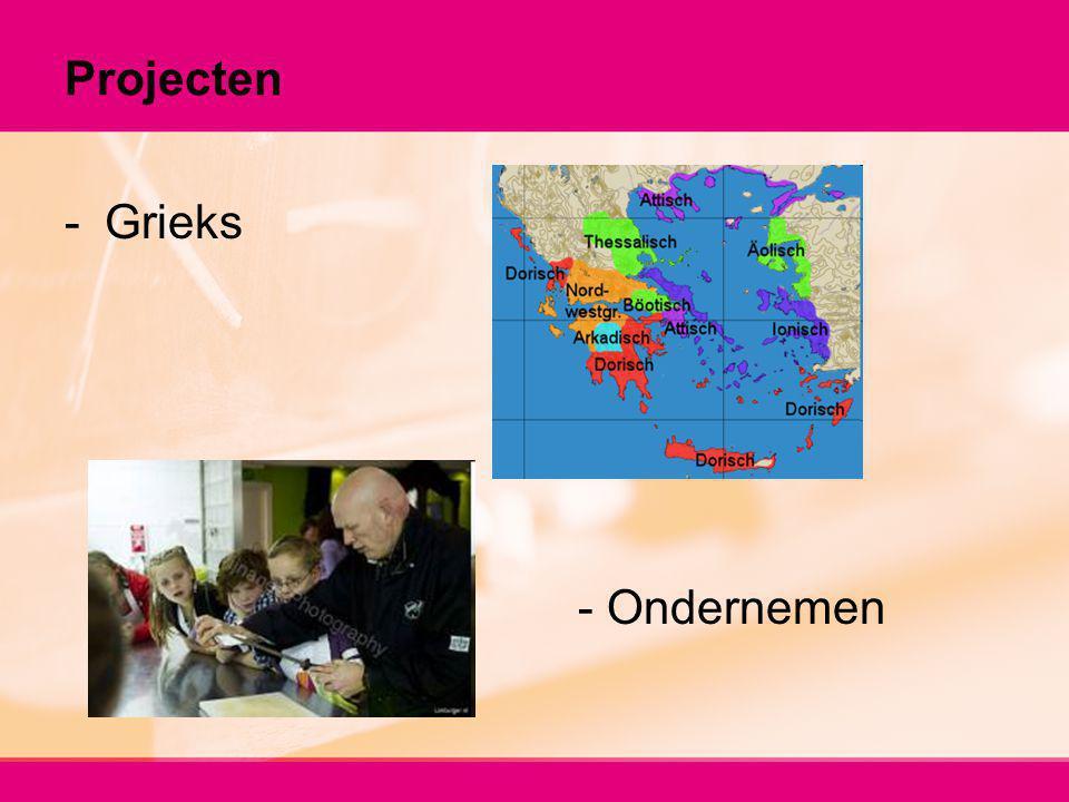 Projecten -Grieks - Ondernemen