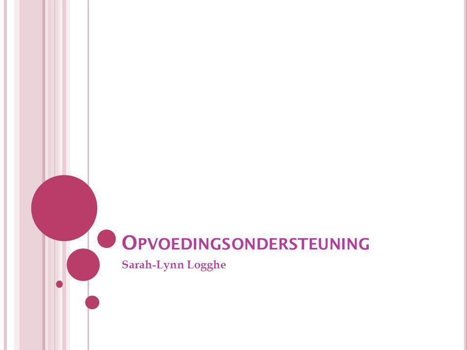 O PVOEDINGSONDERSTEUNING Sarah-Lynn Logghe