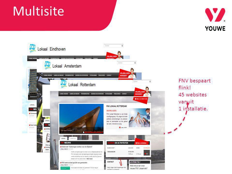 FNV bespaart flink! 45 websites vanuit 1 installatie. Multisite