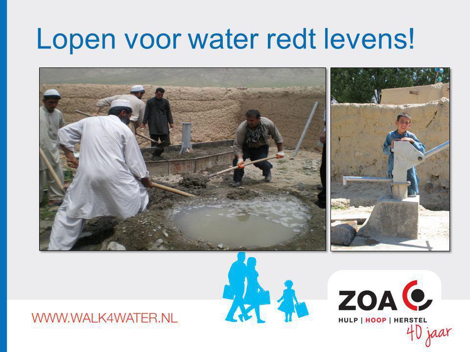 Lopen voor water redt levens!